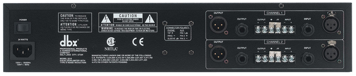 DBX 2215 Dual 15 Band Graphic Equalizer