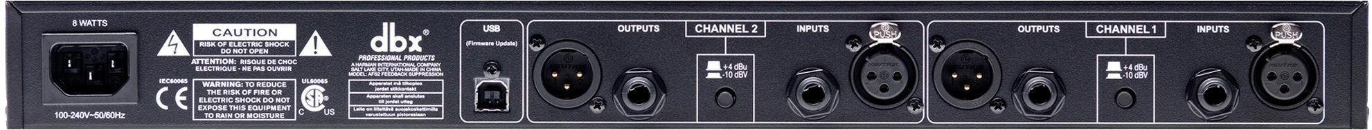 DBX AFS2 Dual channel Advanced Feedback Suppression
