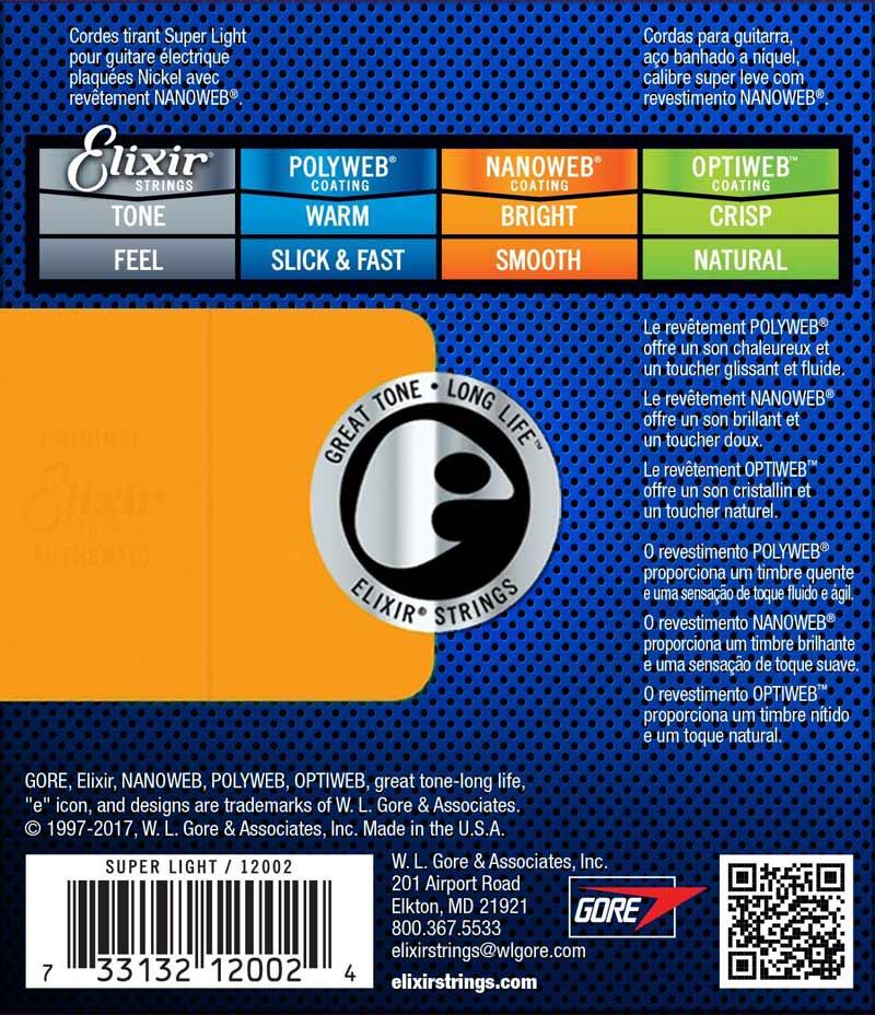 Elixir 12002 Electric Super Light NanoWeb 9-42
