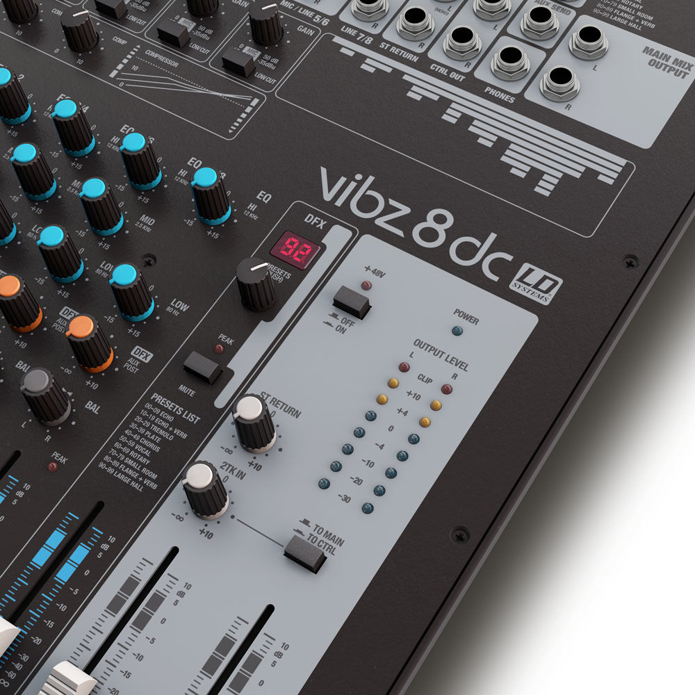 LD Systems VIBZ 8DC mikseta