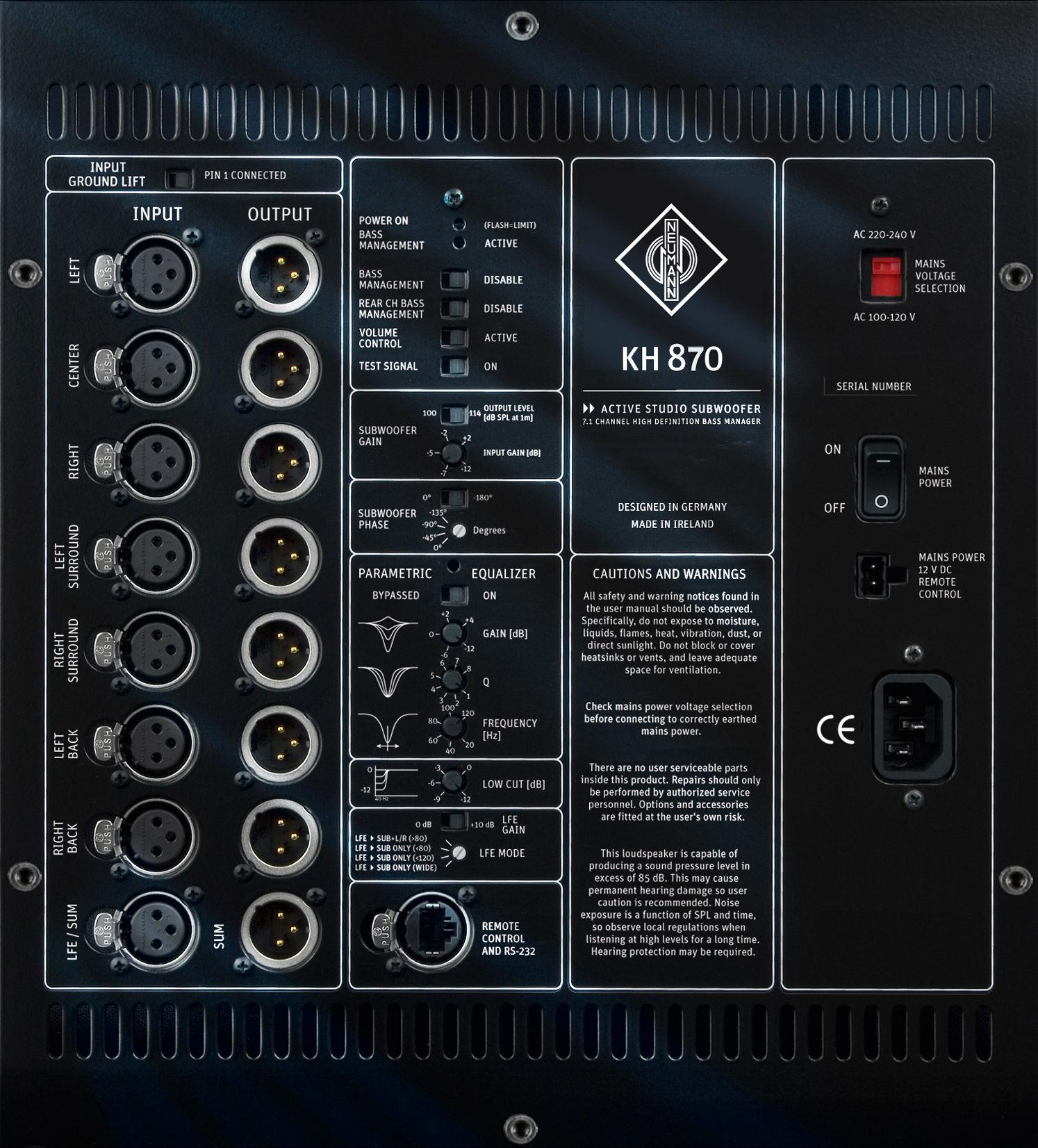Neumann KH 870 aktivni studijski monitor (KOMAD)