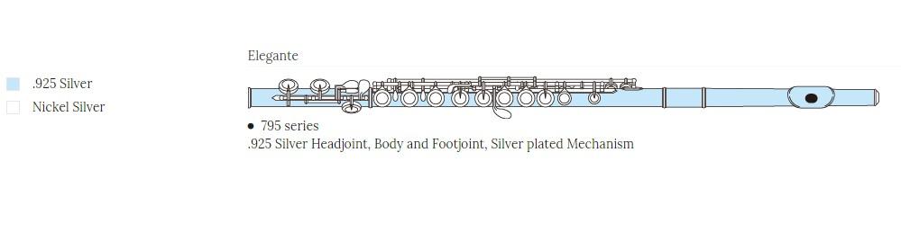 Pearl Elegante 795RBE flauta