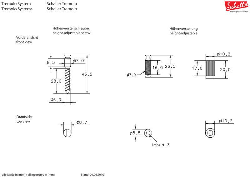 Schaller Floyd Rose tremolo nikl 13020142