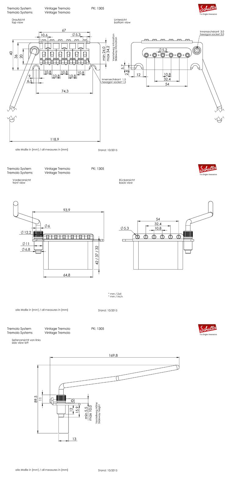 Schaller Vintage Tremolo nickel 13050137