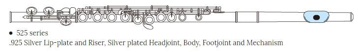 Pearl Quantz 525RE flauta