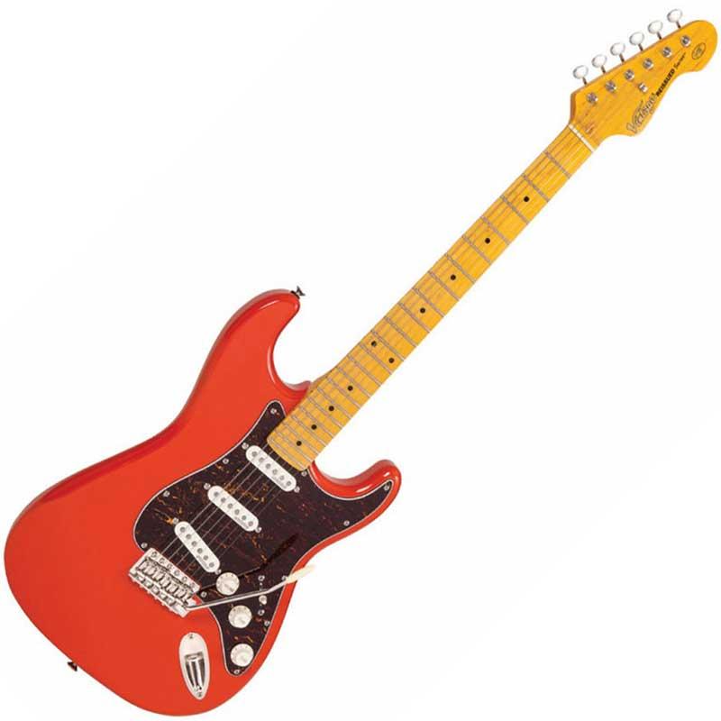 Vintage V6MFR Firenza Red električna gitara