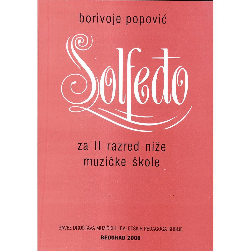 Borivoje Popović – Solfeðo za II razred niže muzičke škole