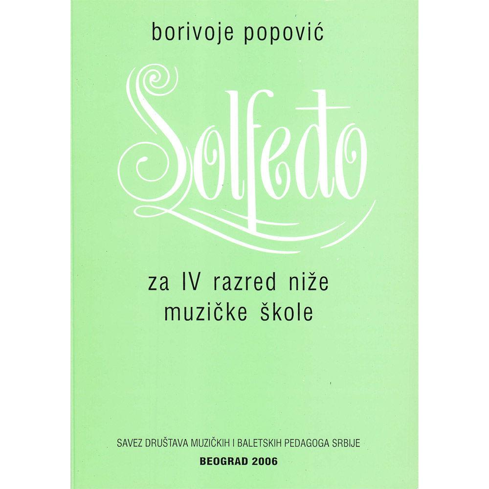 Borivoje Popović Solfeđo za IV razred niže muzičke škole