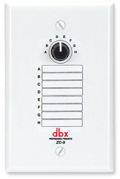 dbx ZC-9 8 Position Zone Controller