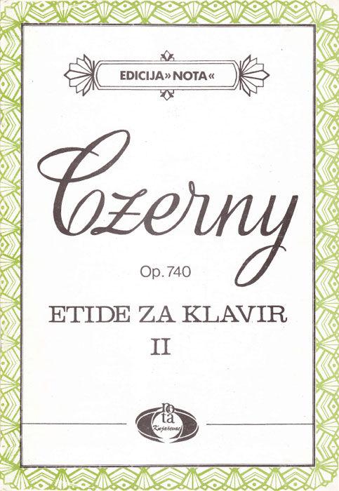 Etide za klavir II Op.740