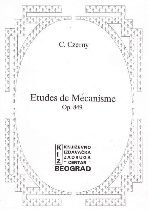 Etudes de Méchanisme Op.849