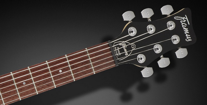 Framus Diablo Pro Amber Transparent Satin električna gitara