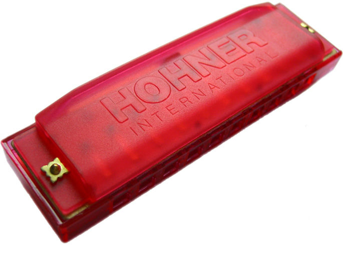 Hohner Happy Color Harp M91600 usna harmonika crvena