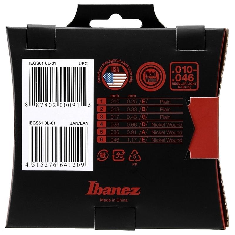Ibanez IEGS61 žice za električnu gitaru 10-46