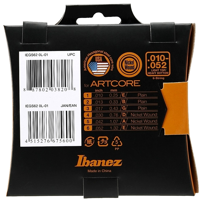 Ibanez IEGS62 žice za električnu gitaru 10-52