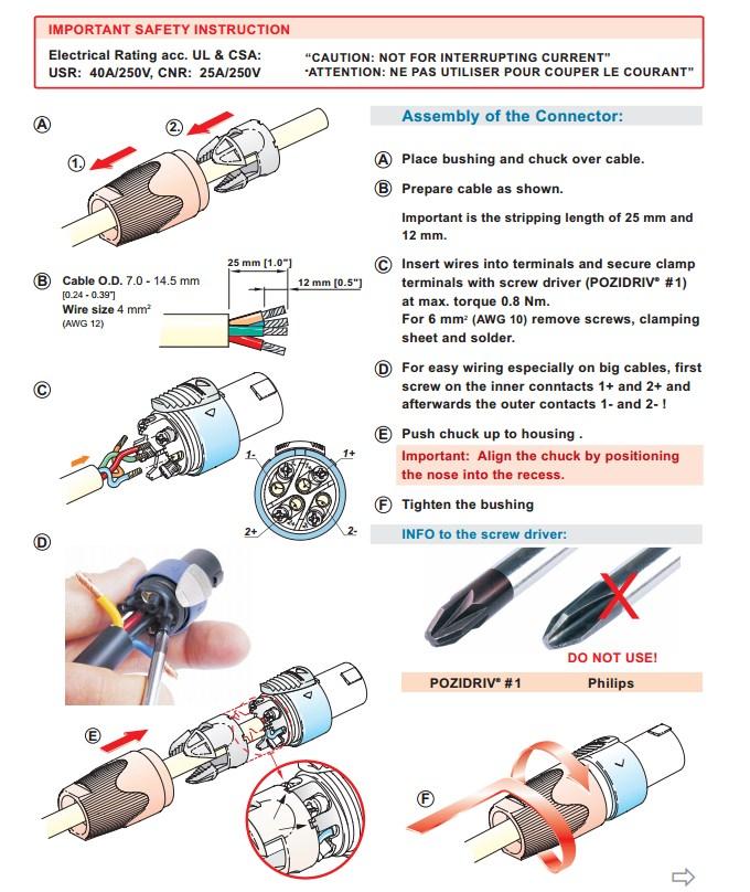 Neutrik NL4FX četvoropolni speakon konektor