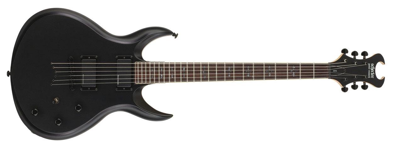 Schecter Devil Satin Black električna gitara