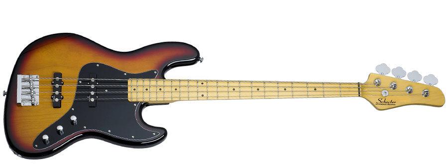 Schecter Diamond-J 3-Tone Sunburst bas gitara
