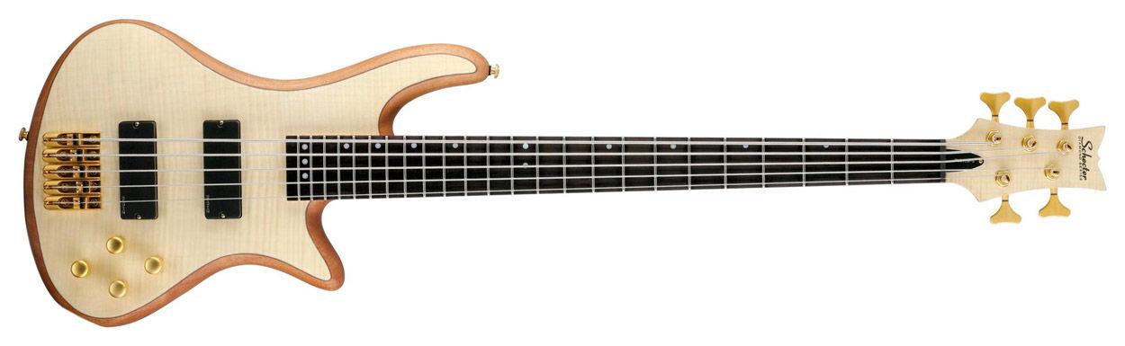 Schecter Stiletto Custom-5 Natural Satin bas gitara