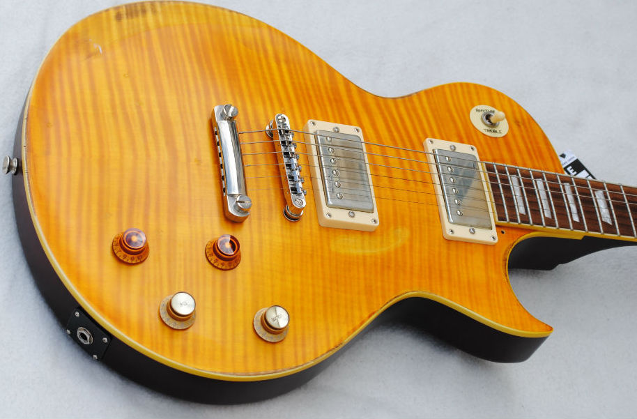 Vintage V100MRPGM Distressed Lemon Drop električna gitara