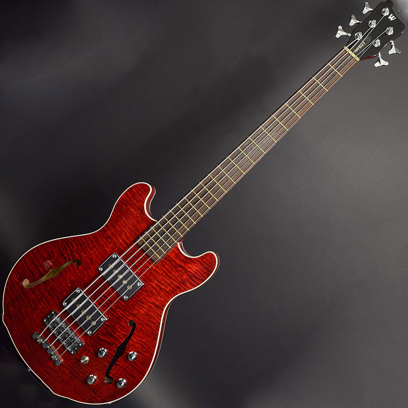 Warwick Star Bass II 5 Burgundy Red Transparent High Polish bas gitara