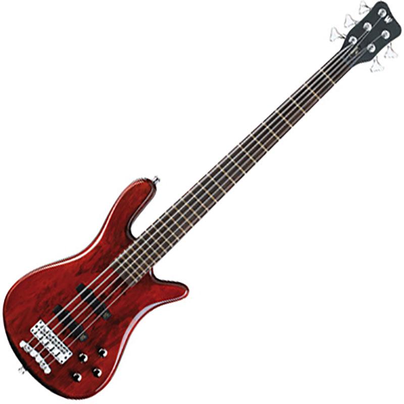 Warwick WGPS Streamer LX 5 Burgundy Red Transparent Satin bas gitara