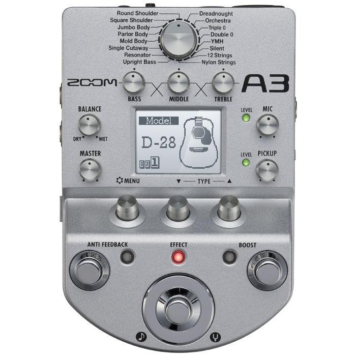 ZOOM A3 procesor za akustičnu gitaru