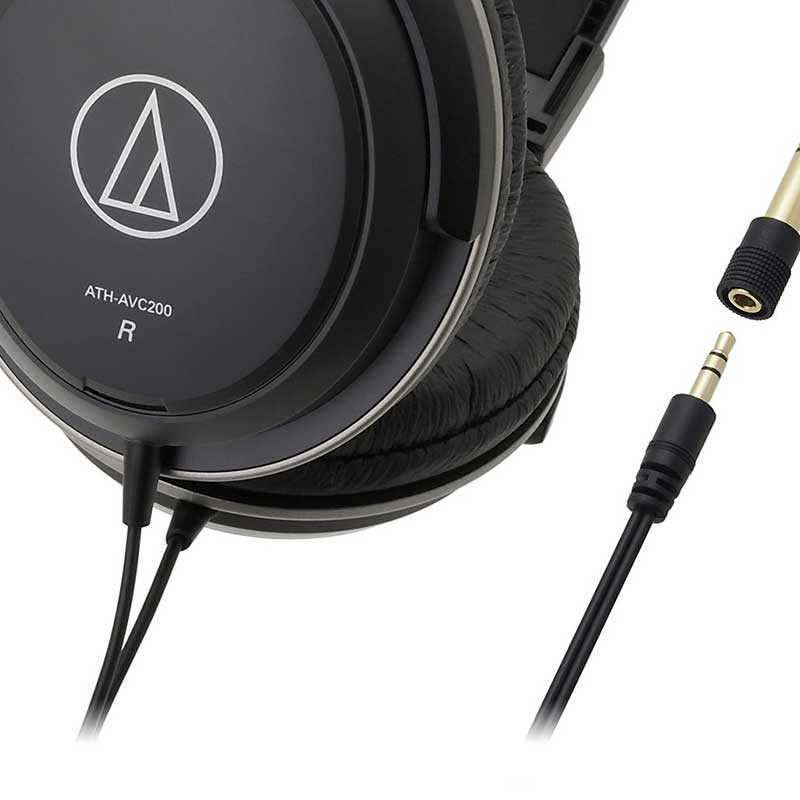 Audio-Technica ATH-AVC200 Over-ear closed-back home studio headphones