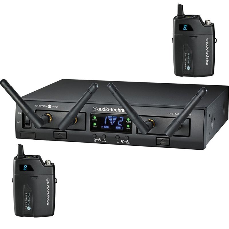 Audio-Technica ATW-1311 2.4GHz Digital Dual Channel Wireless Bodypack System