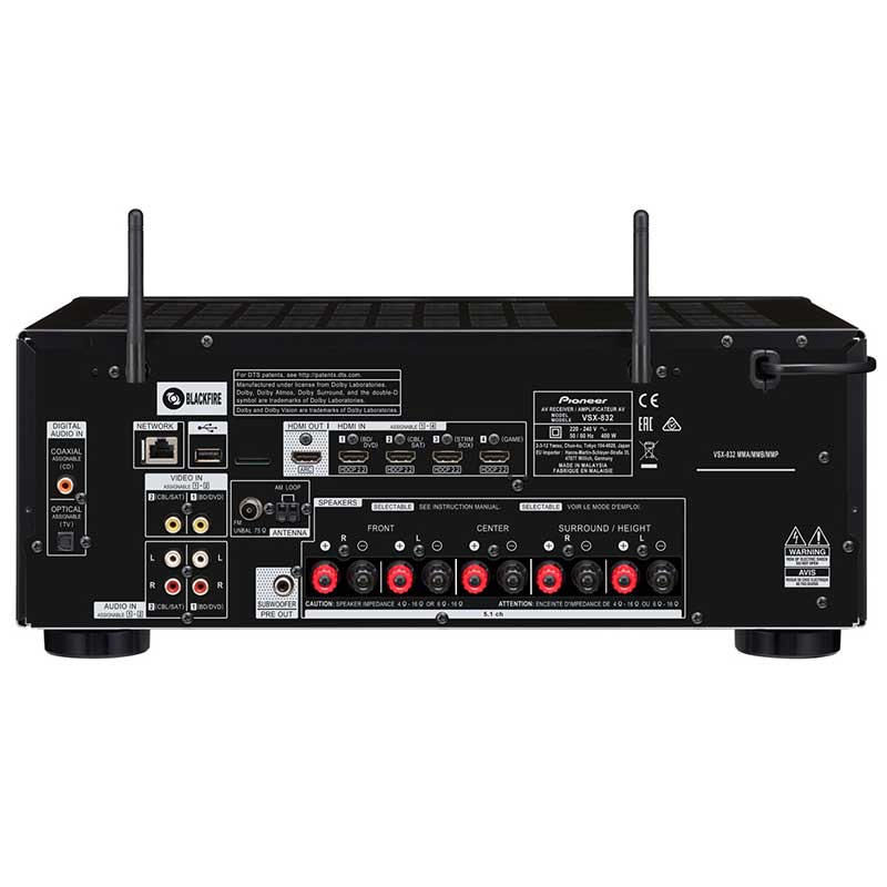 Pioneer VSX-832-B AV risiver
