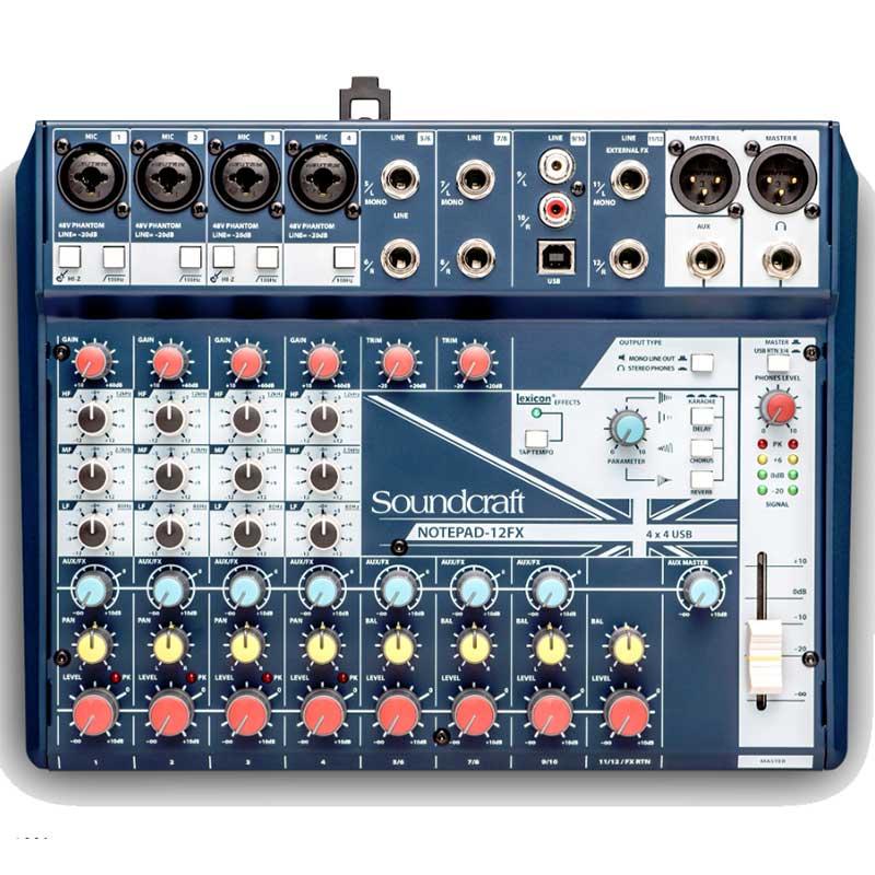 Soundcraft Notepad 12FX mikseta