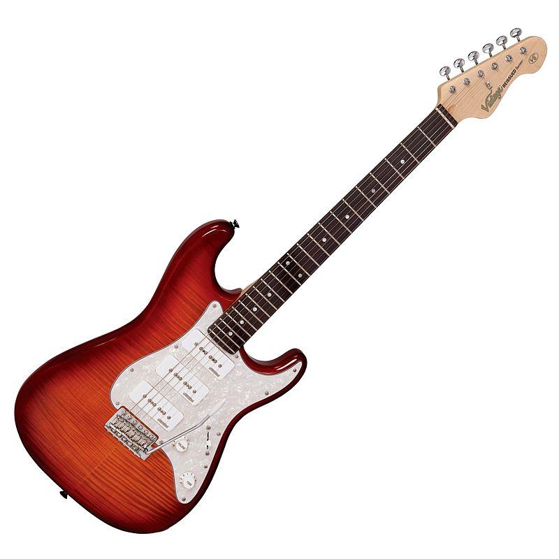 Vintage V6PFCB Flame Cherry Burst električna gitara