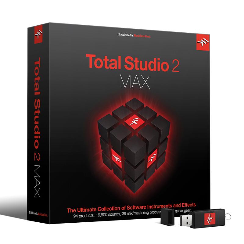 IK Multimedia Total Studio 2 MAX – MAXGRADE from AmpliTube MAX, SampleTank MAX, T-RackS 4 MAX, T-RackS 5 MAX, Miroslav Philharmonik 2