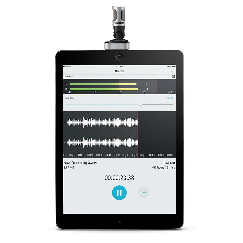 Shure MV88/A Digital Stereo Condenser mikrofon