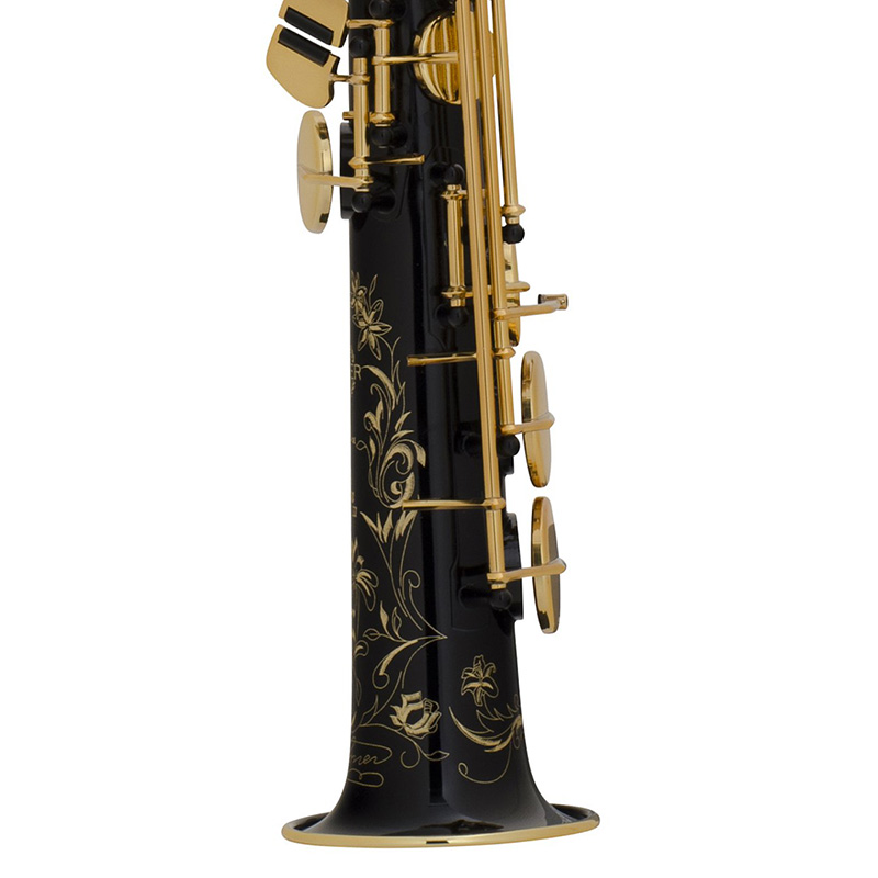 Selmer Super Action 80 Series II B-flat Soprano Saxophone Black Lacquer Engraved / Gold Lacquered Keys