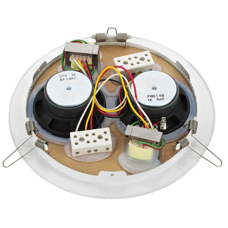 MONACOR EDL-165C/WS plafonski 100V zvučnik
