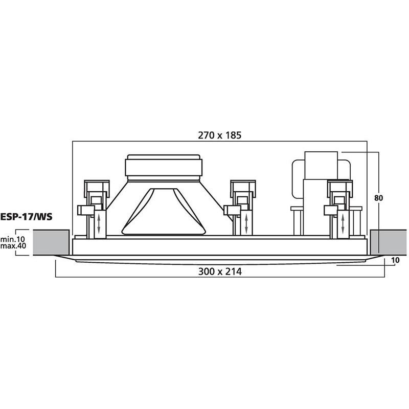 MONACOR ESP-17/WS plafonski 100V zvučnik