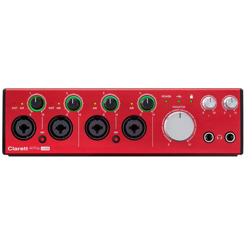 Focusrite Clarett 4Pre USB audio interfejs